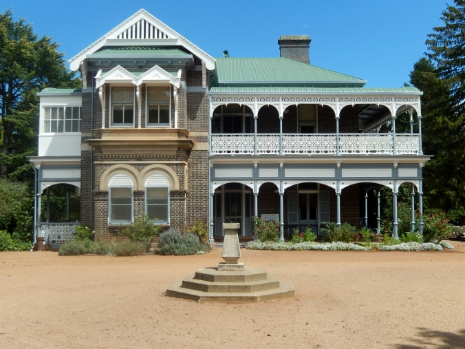 Saumarez House Armidale, note the closed in verandah on the upper left hand side