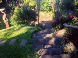 Meandering paths in Wendy's secret garden