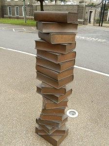 Book Sculptures outside the Cambridge University Library