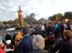 A sample of those gathered for Bogan Gate Anzac Day 2015