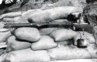 The drip feed rifle was implemented during the evacuation of Gallipoli, to confuse the Turks into thinking Anzac Cove was still being defended. When enough water had dripped into a jam tin, the weight caused a string to pull the trigger.