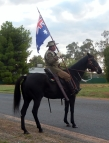 Light Horse with Australian Flag Bogan Gate Anzac Day 2015 side view
