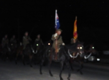 Trundle Light Horse in Pre-Dawn gloom Anzac Day 2015 at Bogan Gate
