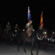 Trundle Light Horse in Pre-Dawn gloom Anzac Day 2015 at Bogan Gate