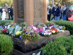 Wreaths at Bogan Gate War Memorial Anzac Day 2015
