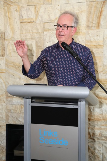 Professor Ian Brown, speaking at launch of I Belong to No One, photo courtesy Andrew Gray