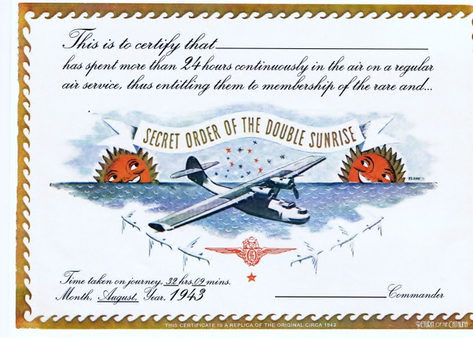 The Return of the Catalina Certificate