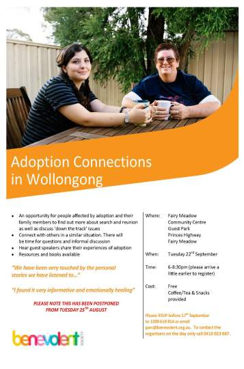 Wollongong Connections flyer September 2015