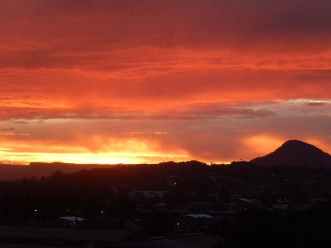 Another view from my study balcony - Sunset on Halloween 2015