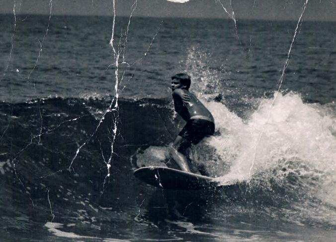 Surfing at Garie Beach NSW circa 1962