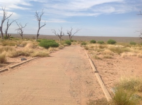 Boat Ramp leading down to Menindee Lakes March 2016