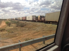 Menindee Lakes and Kinchega Park 9th March 2016 Freight Train (2)