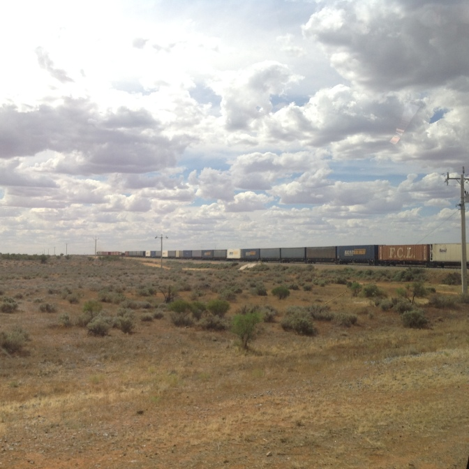 Menindee Lakes and Kinchega Park 9th March 2016 Freight Train (3)
