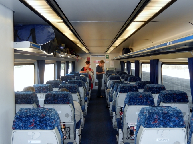 Internal of first class carriage of NSW Trainlink Outback Xplorer