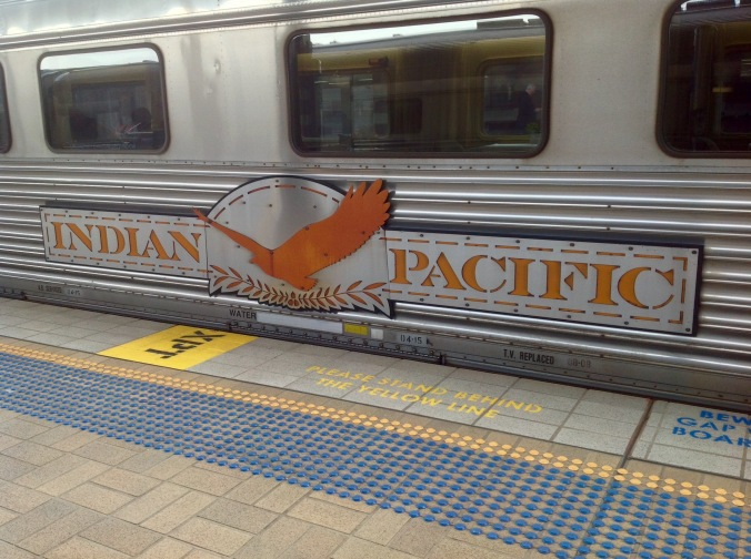 Indian Pacific Carriage Insignia May 2016 at Sydney Central Station