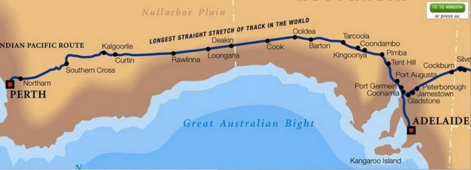 Indian Pacific Map