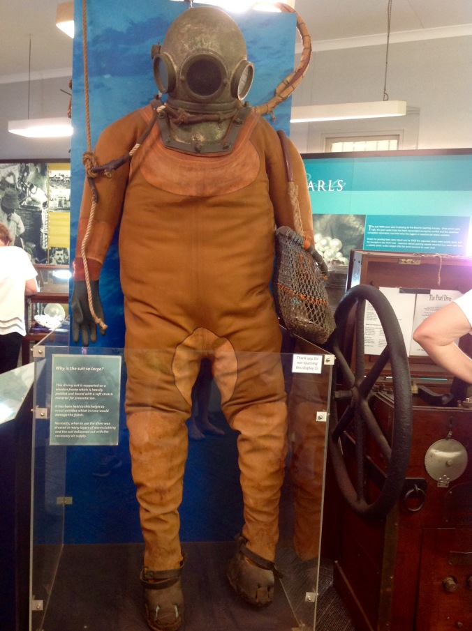 Pearl Diver's Suit in Broome Historical Museum