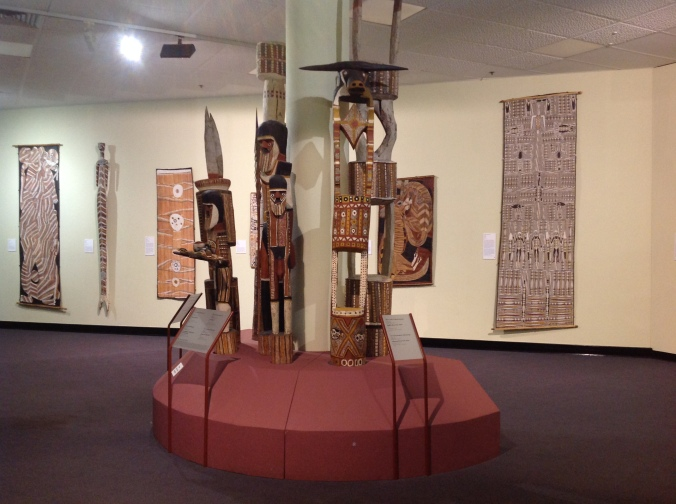 Just one example of the Indigenous art on display at the Museum & Art Gallery of the Northern Territory. These originate from the Tiwi and Melville Island people