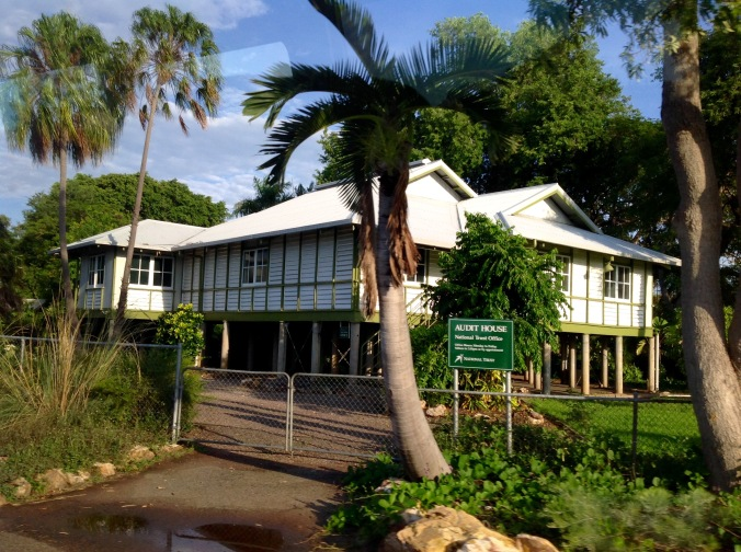 The Giese Residence in Darwin, formerly known as Audit House, is typical of the housing built for high-ranking public servants from 1920 - 1940 and is now a rare example of its type. There are four surviving in the Myilly Point Heritage Precinct.