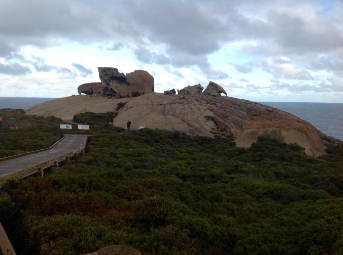 Walking towards Remarkable Rocks, Kangaroo Point, June 2016