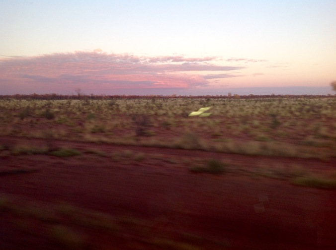 Early morning somewhere near Alice Springs, seen from the Ghan Train June 2016