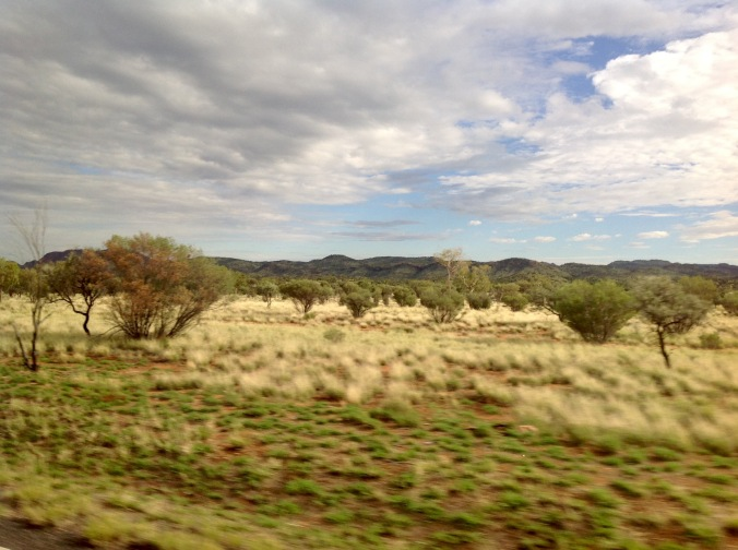 Closer to Alice Springs NT from the Ghan train June 2016