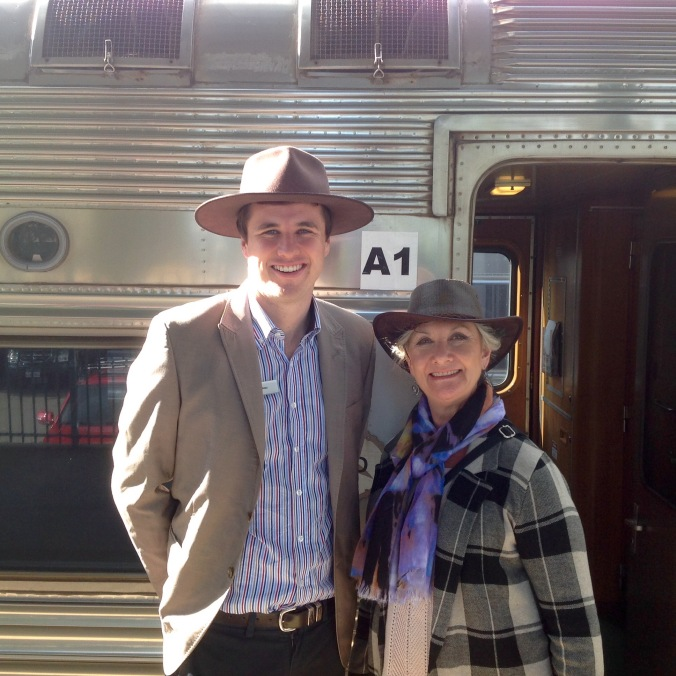 Leaving the Ghan in Adelaide June 2016