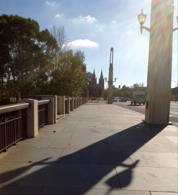 LOOKING NORTH TOWARDS ST PETERS CATHEDRAL, NORTH ADELAIDE