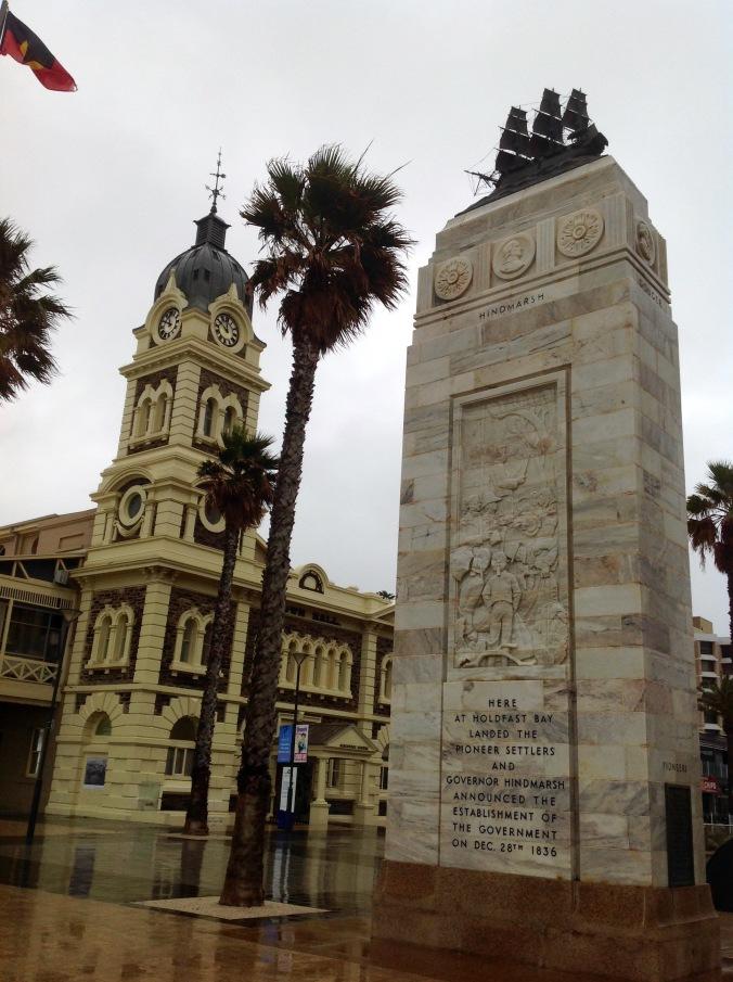 Glenelg, SA, 5th Jun 2016 Town Hall and Pioneer Memorial