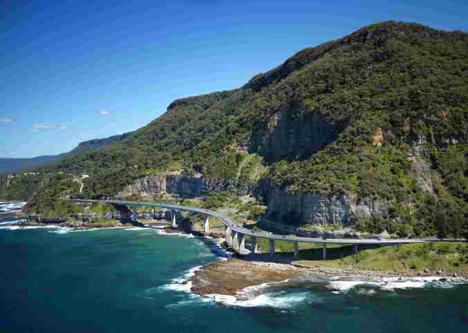 Aerial of Sea Cliff Bridge