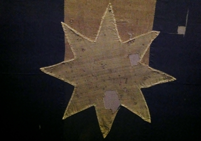 One of the 5 eight-pointed stars on the 1854 Eureka Flag, representing the Southern Cross constellation