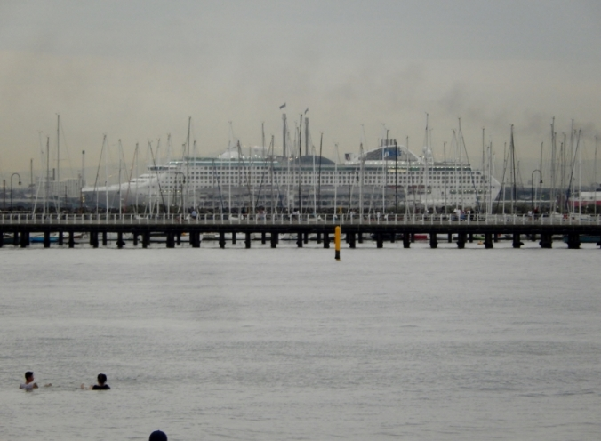 Princess Line cruise ship in Melbourne