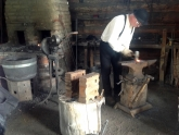 Blacksmith in action at Hat Creek Ranch