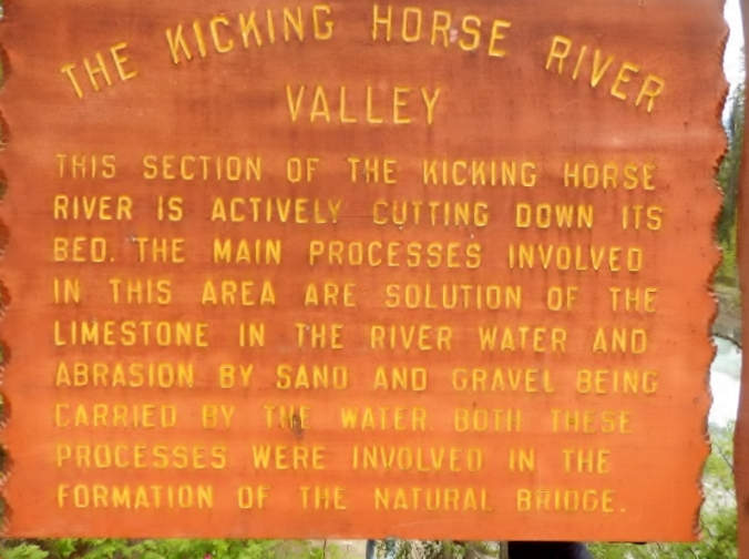The Kicking Horse River Valley