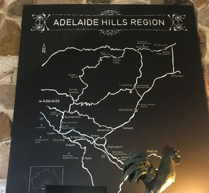 Adelaide Hills map