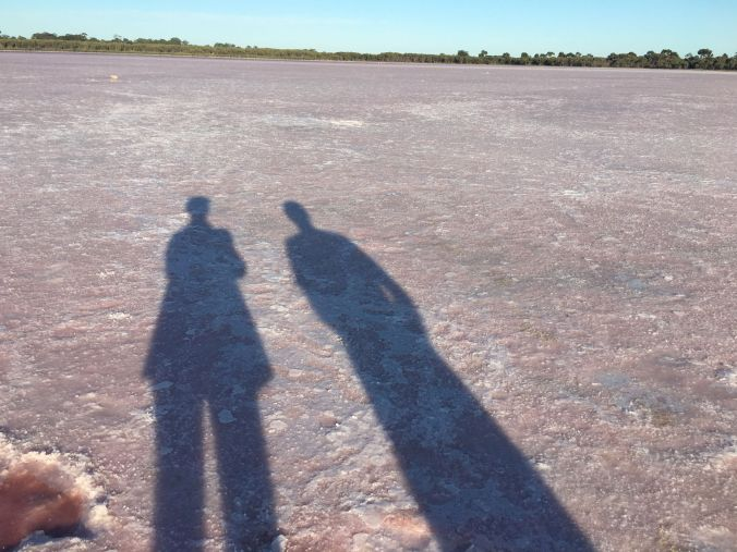 Self Portrait at Pink Salt Lake rs