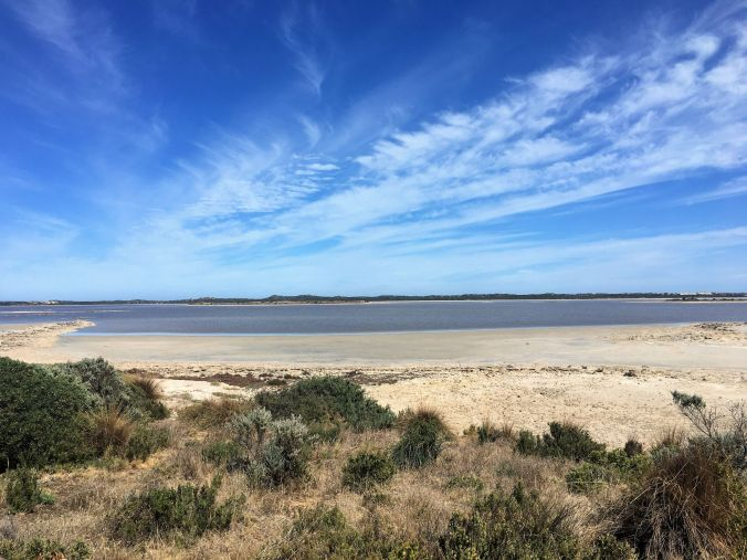 Looking for pelicans at Coorong SA March 2020